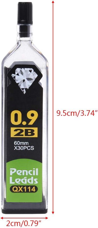 0.9mm 0,9 mm niumanery 5 ricariche HB 2B per portamine Automatico