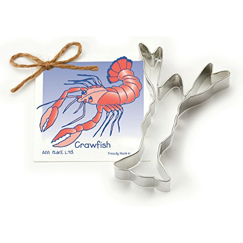 Crawfish Cookie and Fondant Cutter - Ann Clark - 4.9 Inches - US Tin Plated -