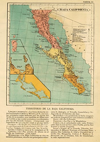 Map Poster - Baja California