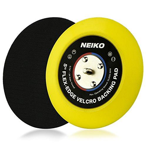 Neiko Flexible Edge Hook and Loop PU Backing Pad for DA Sander Polisher Buffer | 10,000 RPM,...