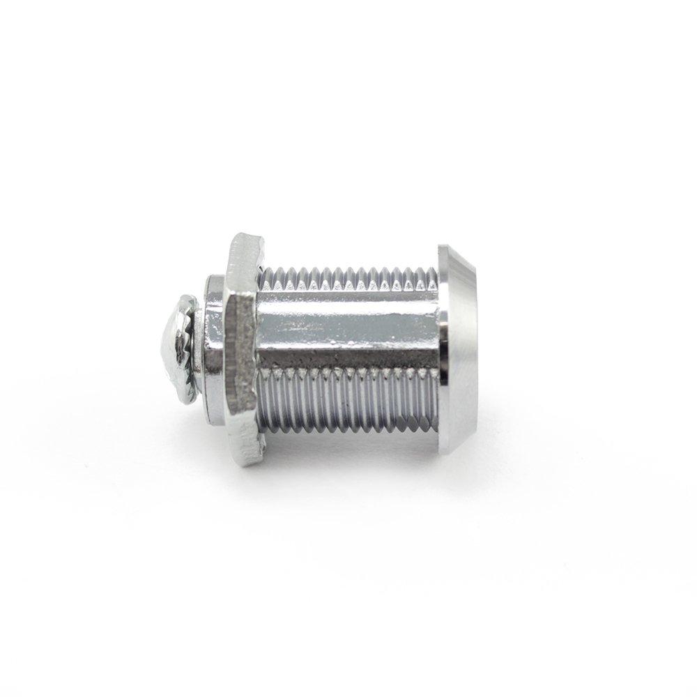 25 mm com-four/® Cerraduras de buz/ón 2 Cerradura de Muebles con Llave 02 Piezas - 25 mm