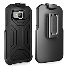 HTC ONE M9 Shockproof® Case & Belt Clip Holster with Built-in Screen Protector [Hero Series] (Encased® Lifetime Warranty) **New 2016 Release** (Jet Black)