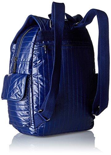 Mujer de K18726 Cuero Blue Azul Mochila Shiny Kipling xvIR7CwR