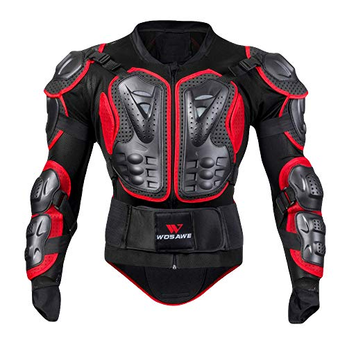Price comparison product image Rucan Motorcycle Full Body Armor Jacket Motocross Racing Spine Chest Protecto Coat