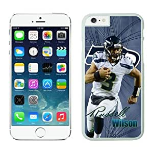 Seattle Seahawks Russell Wilson Case For iPhone 6 White 4.7 inches