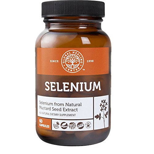 Global Healing Center Vegan-Friendly Selenium Made from Certified Organic Mustard Seed For Healthy Thyroid & Immune System (60 - Friendly Center