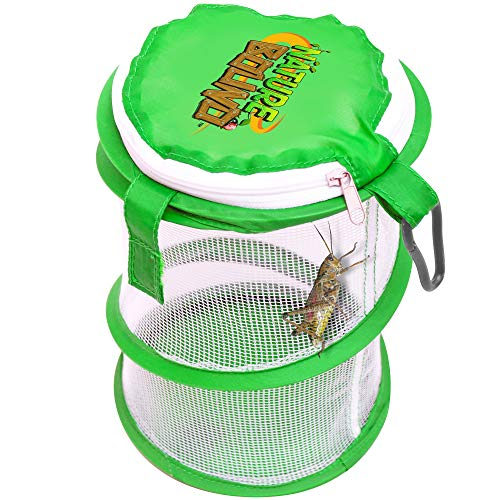 Nature Bound NB528 Pop Up Critter Catcher Habitat Kit with Carabiner Clip & Zipper Lid, One Size, - Bug Lightening