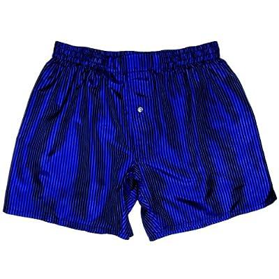 Top Pinstripe Blue Silk Boxers by Royal Silk - Sizes S, M, L, XL, XXL - 100% Madras Silk hot sale