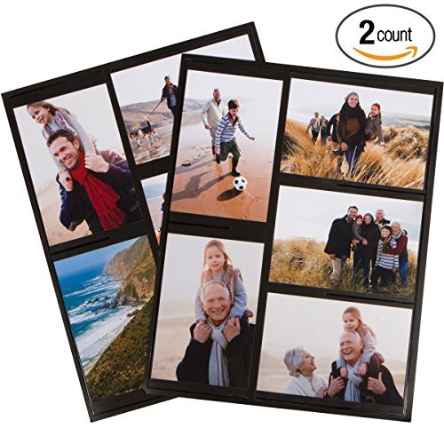 Magnetic Photo Collage Frame for Refrigerator, Set of 2. Best Gift for Birthdays, Mother's Day, Father's Day or for yourself. Each frame holds 5-4x6 inch photos. Won't Slip and Easy to Use. by A&G Imports