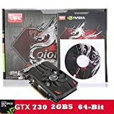 NVIDIA GeForce GT 730, 2GB, DDR5, PCI-Express 2.0, DirectX 11, Single Fans, Video Graphics Card Support HD/VGA/DVI by Transer