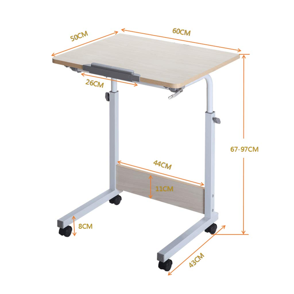 Desk Mobile Computer, Modern Minimalist Folding Table - Home Learning Writing Adjustable Height by Desk (Image #2)