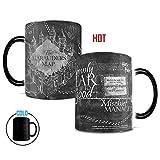Morphing Mugs Harry Potter Hogwarts Magical Marauder's Map Heat Reveal Ceramic Coffee Mug - 11 Ounce (Black and White Reveal)