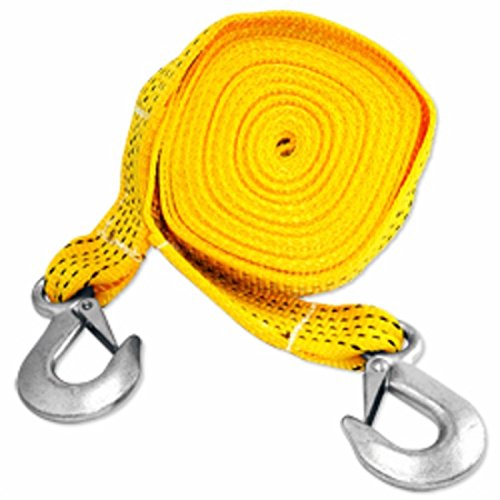 20 Ft Atv Car Truck Vehicle Towing Recovery Tow Web Strap Cable Rope With Hooks
