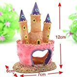 Wall of Dragon Resin Fish Tank Cartoon Castle Decoration Aquarium Diamond Castle Tower Ornament Aquarium Rock Cave Shelter For Fish Shrimp