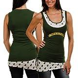 NCAA Oregon Ducks Ladies Green Scrimmage Double Layer Premium Tank Top (Small)