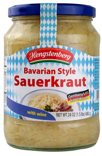Bavarian Wine Sauerkraut 24 oz Jar (2 Pack)