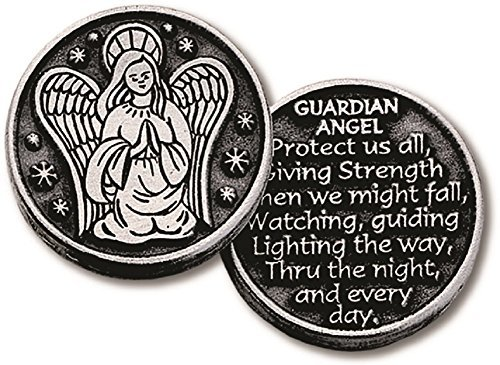 Inspirational Pocket Pewter Tokens 12 Pack Double Sided (Guardian -