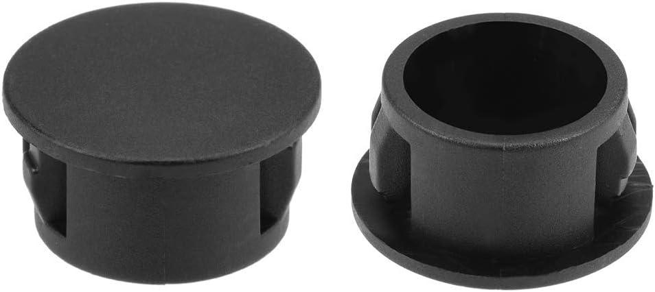 Snap fit Locking hole tube lock Discharge type Panel plugs 100 pieces 5//8 in. Orifice plugs Black plastic 16 mm
