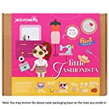 Jackinthebox Art and Craft Felt Kit for Girls - Little Fashionista 6-in-1 DIY Fun Activities for Girls Ages 7-10, Perfect Birthday Gift for Girls Learning Stem Toys (6-in-1)