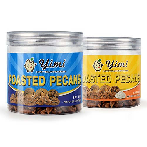 Yimi Roasted Pecans Nuts Organic Healthy Snacks,10.4 Ounce,Gift Pack of 2 (Creamy + (Healthy Snack For Halloween)