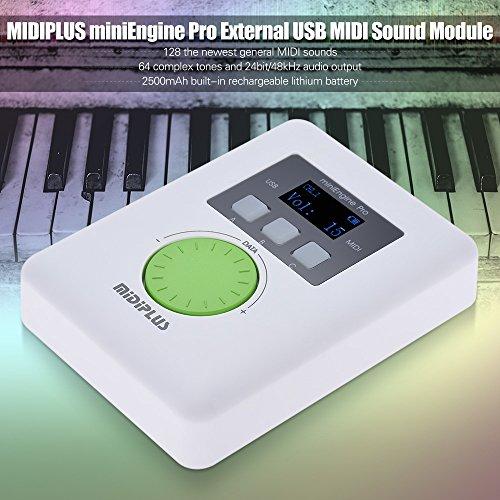 Kalaok miniEngine Pro External USB Sound Module Built-in Rechargeable Lithium Battery 128 MIDI Sounds 64 Tones (Best Midi Sound Module)