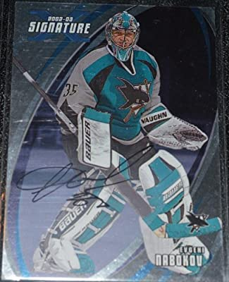 2002-03 ITG Be A Player Signature Series Evgeni Nabokov Autograph #7