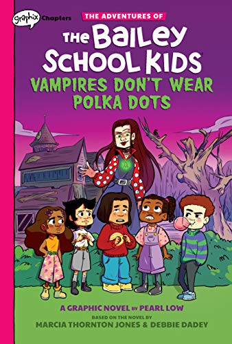 Book Cover: Vampires Don't Wear Polka Dots: A Graphix Chapters Book