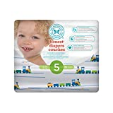 The Honest Company Disposable diapers, trains print polybag, size 5, 25 Count