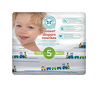 The Honest Company Disposable diapers, trains print polybag, size 5, 25 Count (B072L75V4D)   Amazon price tracker / tracking, Amazon price history charts, Amazon price watches, Amazon price drop alerts
