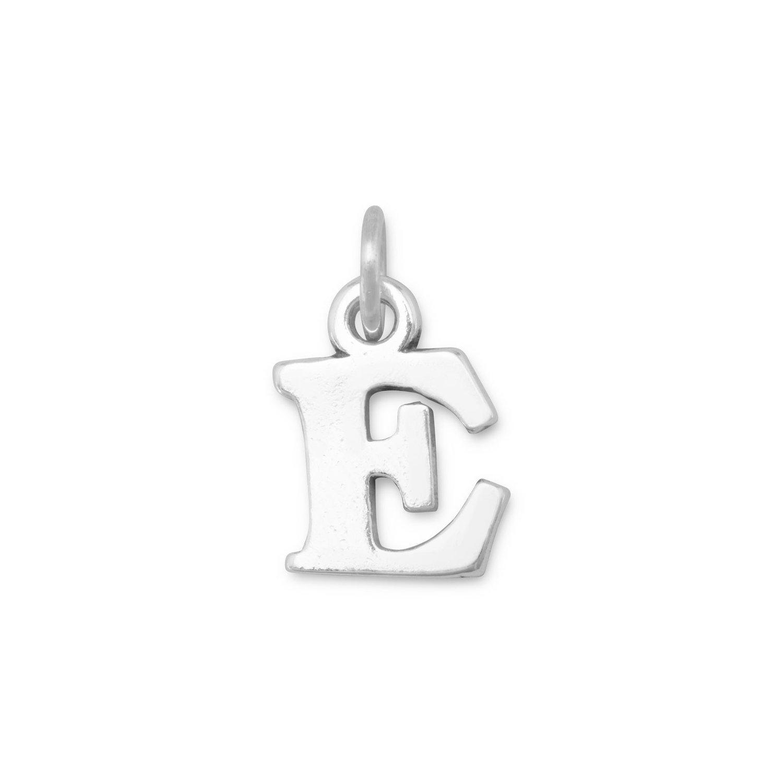 925 Sterling Silver Greek Alphabet Letter Charm Epsilon