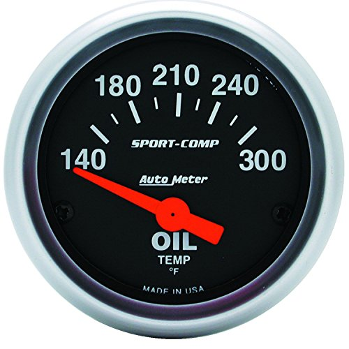 Auto Meter 3348 Sport-Comp Electric Oil Temperature (Comp Gauge Panel)
