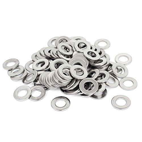 Ton argent en acier inoxydable 304 Rondelle plate 100pcs 3//8 pouces pour vis