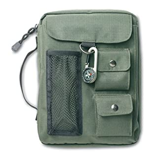 Compass Green Medium Book and Bible Cover