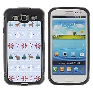 Suave TPU GEL Carcasa Funda Silicona Blando Estuche Caso de protección (para) Samsung Galaxy S3 III I9300 / CECELL Phone case / / winter reindeer snowman sweater xmas /