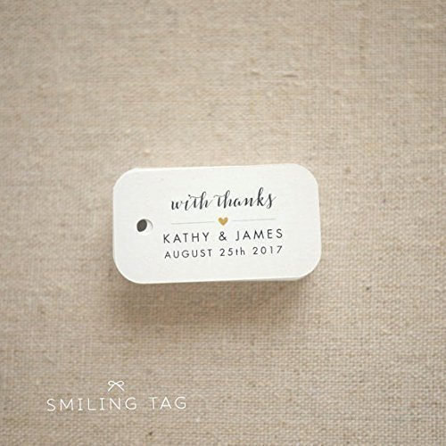 with thanks wedding favor tags personalized gift tags bridal shower thank you tags