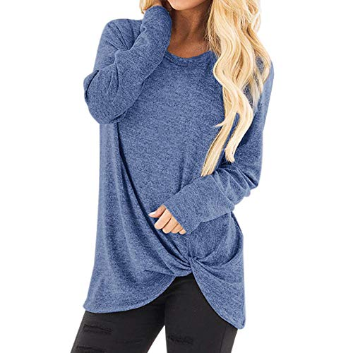 iOPQO Women's Tops, Ladies Loose Long Sleeve O Neck Casual Solid T-Shirt Blouse – DiZiSports Store
