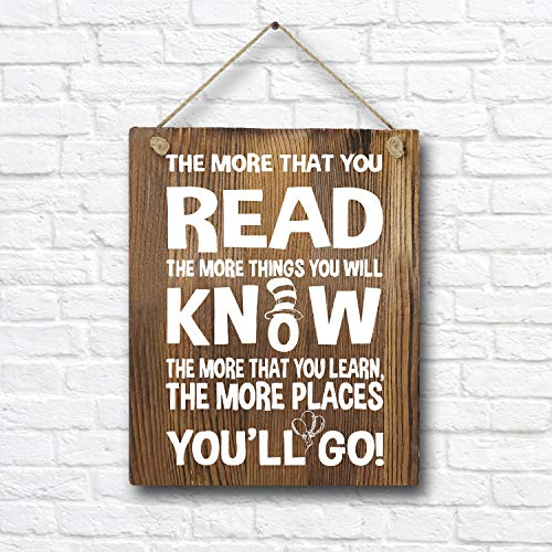 Dr Seuss Signs (Dr. Seuss Quotes and Saying Rustic Wood Wall Art Decor- 8