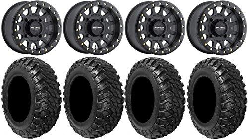 Bundle - 9 Items: Method 401 14'' Beadlock Black (5+2) Wheels 30'' Kanati Mongrel Tires [4x156 Bolt Pattern 12mmx1.5 Lug Kit] by Powersports Bundle (Image #4)