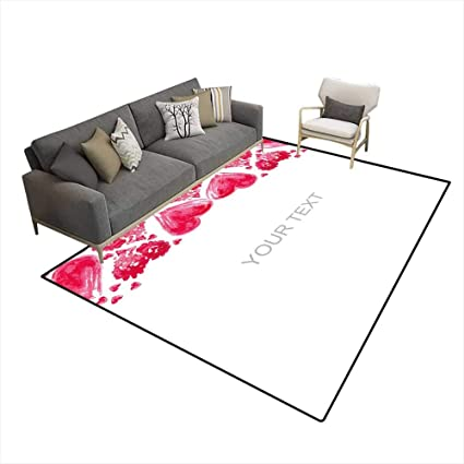 Amazon.com: Girls Bedroom Rug Layout of postcarto The Day of ...
