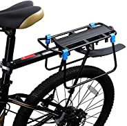 Bicycle Rear Bike Rack with Fender, Quick Release Bicycle Luggage Cargo Rack Adjustable Cycling Pannier Rack L
