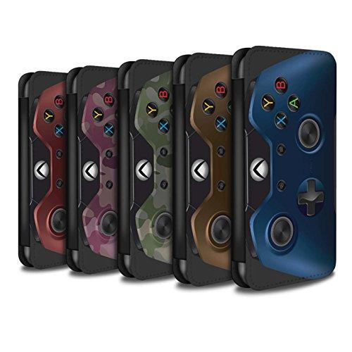 Stuff4 Coque/Etui/Housse Cuir PU Case/Cover pour Apple iPhone SE / Pack 7pcs Design / Jeu Vidéo/Xbox One Collection