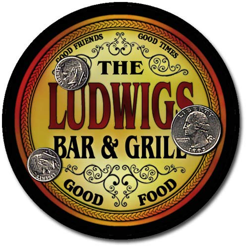 Ludwigs Family Bar and Grill Patriotic Rubber Drink Coaster Set