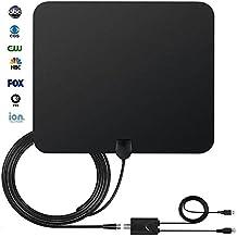 HDTV Antenna, StarTV TV Antenna for Digital TV Indoor 50 Miles Range with Detachable Signal Amplifier Booster for 1080P High Reception, Installation More Flexible, Stronger Signal