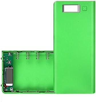 TriLance Solderless 8 Sección 18650 Caja de batería, DIY USB Mobile Power Bank Cargador Caso Pack 8pcs 18650 Soporte de batería para teléfono: Amazon.es: Bricolaje y herramientas