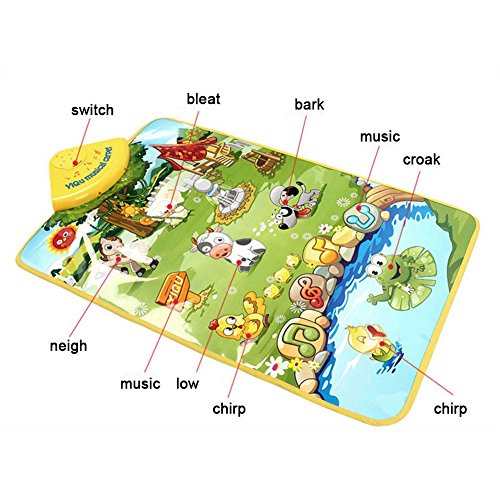 Music Sound Singing Farm Animal Child Playing Blanket Mat Carpet Play mat Kid Activity Toy