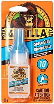 Gorilla Glue Super Glue Liquid, Fast-Setting, Versatile Cyanoacrylate Glue, Anti-Clog Cap, Flow Control Formul