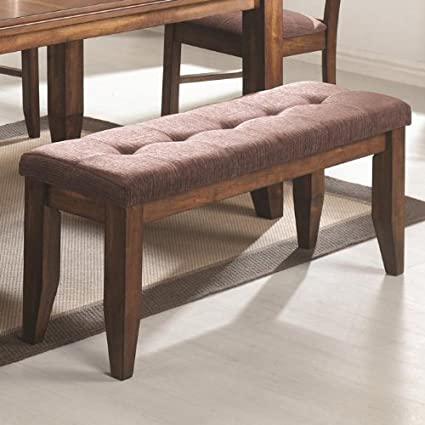 Page Contemporary Dining Bench With Tufted Upholstered Seat By Coaster
