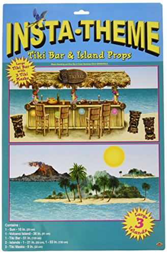 The Party Hut Costumes (Tiki Bar & Island Props Party Accessory (1 count) (8/Pkg))
