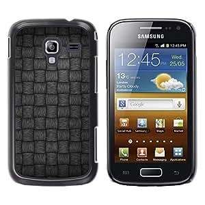 Caucho caso de Shell duro de la cubierta de accesorios de protección BY RAYDREAMMM - Samsung Galaxy Ace 2 I8160 Ace II X S7560M - Gray Pattern