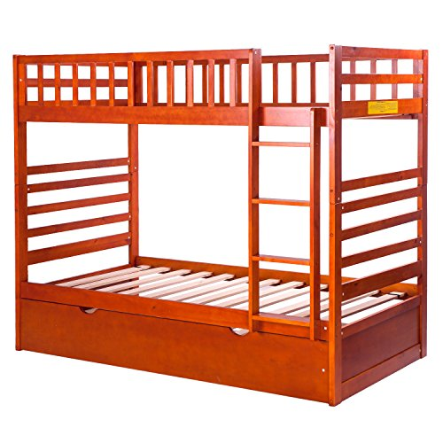 Merax Bunk Bed Twin Over Twin With Trundle Bed And End